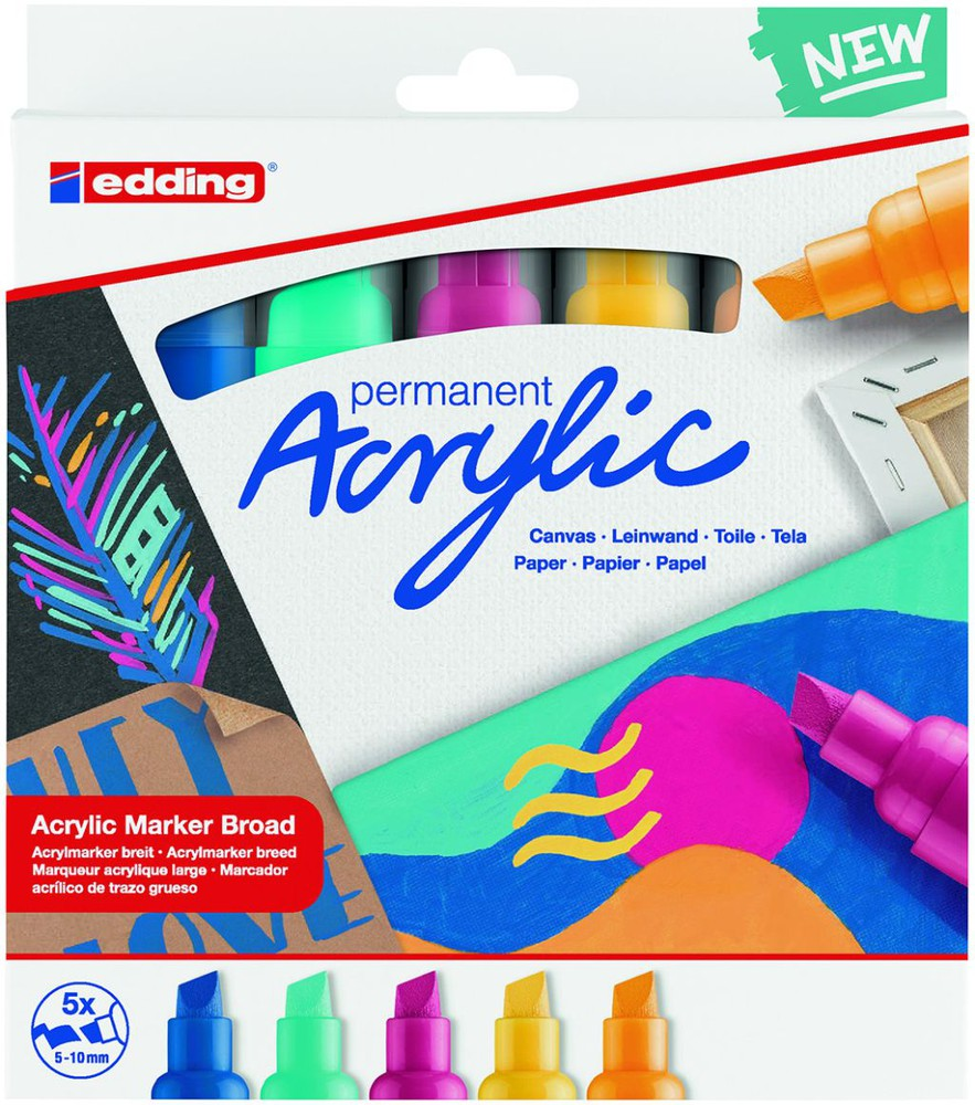Set marcadores acrílico colores abstractos
