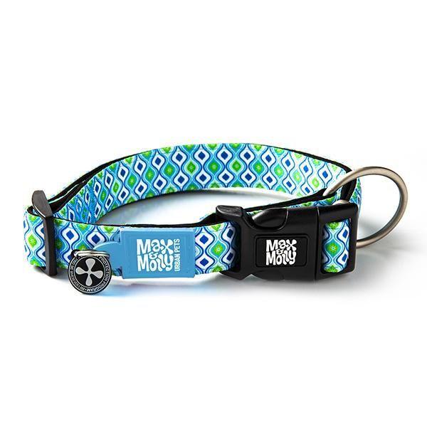 Collar retro blue con smart id (l)