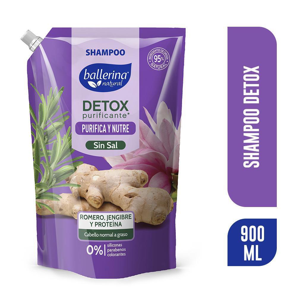 Shampoo detox romero, jengibre y proteina sin sal