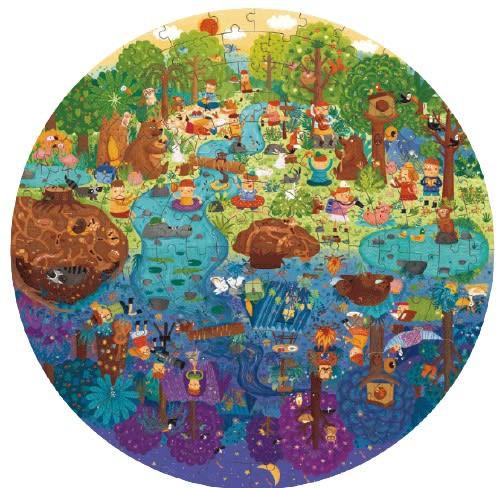 Puzzle redondo un día en el bosque 150 piezas