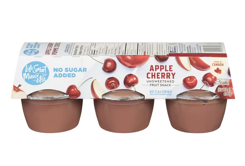 Unsweetened cherry apple fruit snack