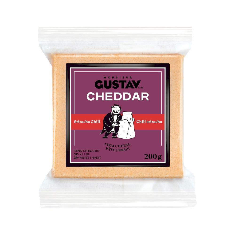 Cheddar sriracha chili