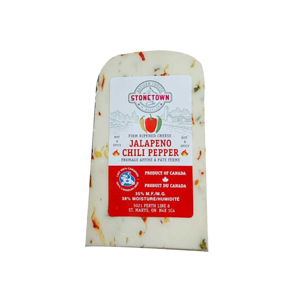 Jalapeno chili pepper firm cheese