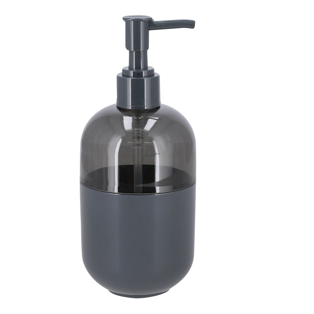 Dispensador jabón plástico gris oscuro