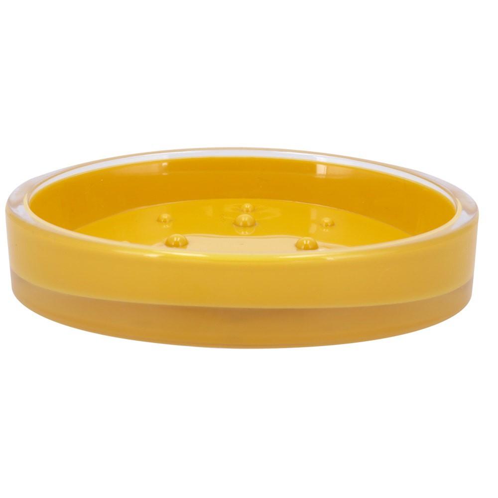 Jabonera acrílico amarillo