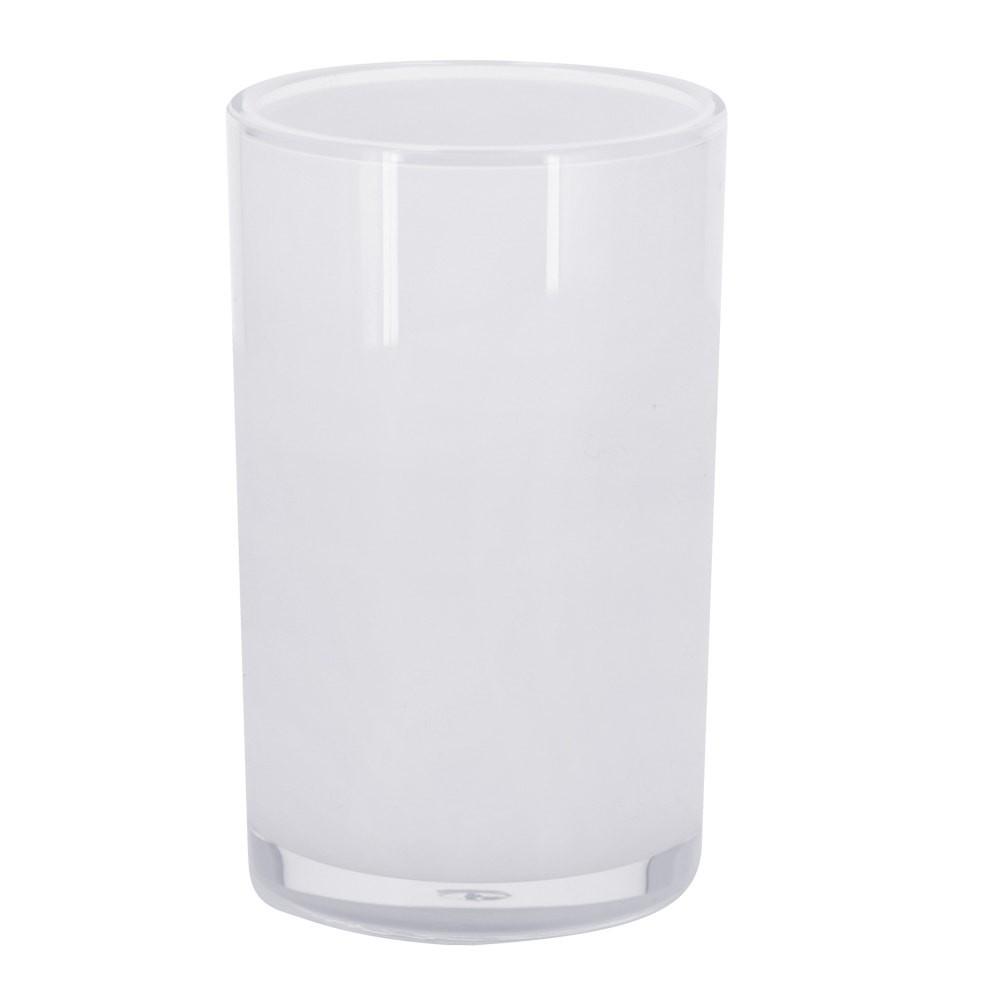 Vaso acrílico blanco