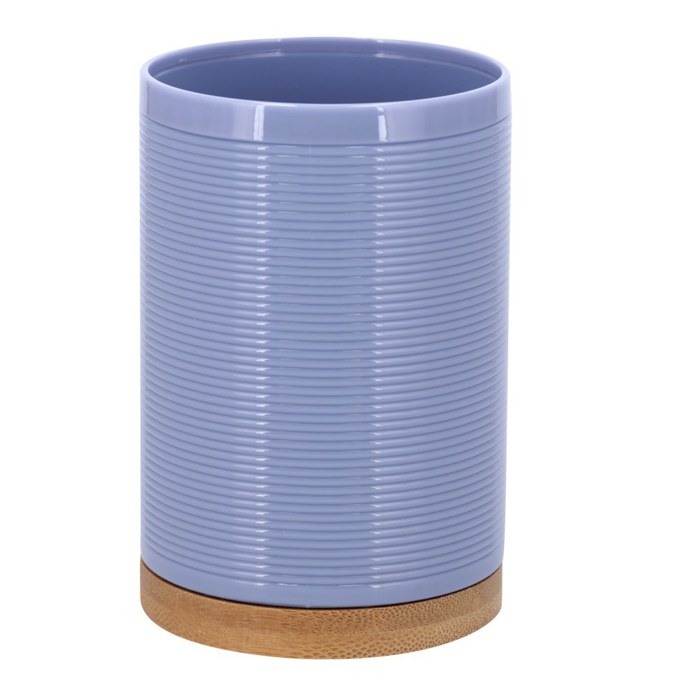 Vaso de plástico y bambú violeta claro
