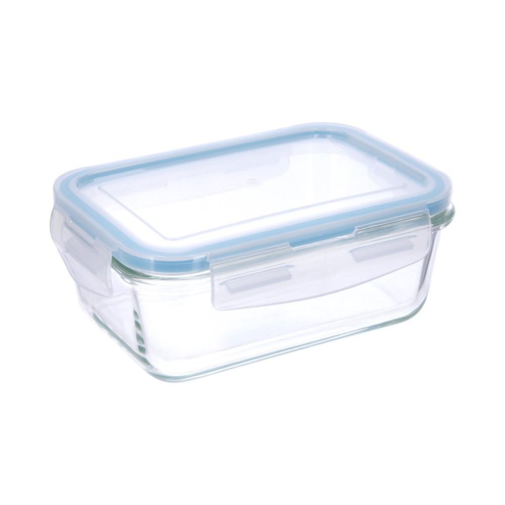 Contenedor alimentos vidrio rectangular