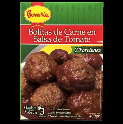 Bolitas de Carne con Salsa de Tomates