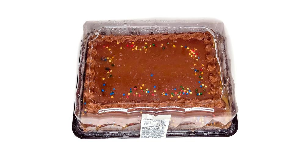 Chocolate plate cake