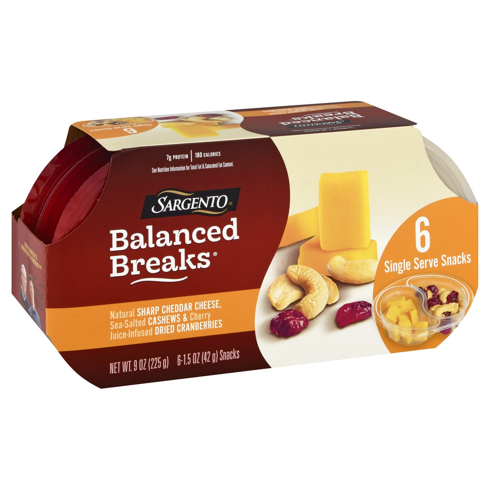Balanced Breaks Cheddar Cashews & Dried Cranberries