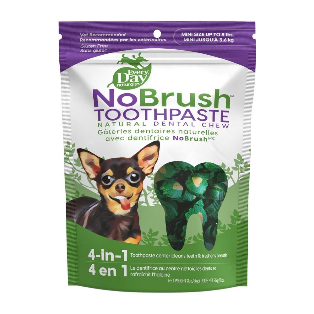 Nobrush toothpaste natural dental chews