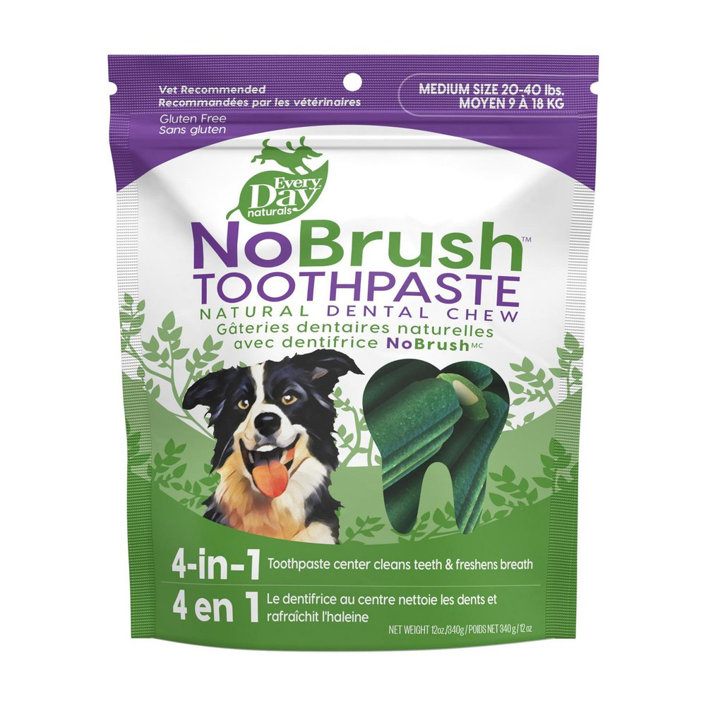 NoBrush toothpaste natural dental chew M