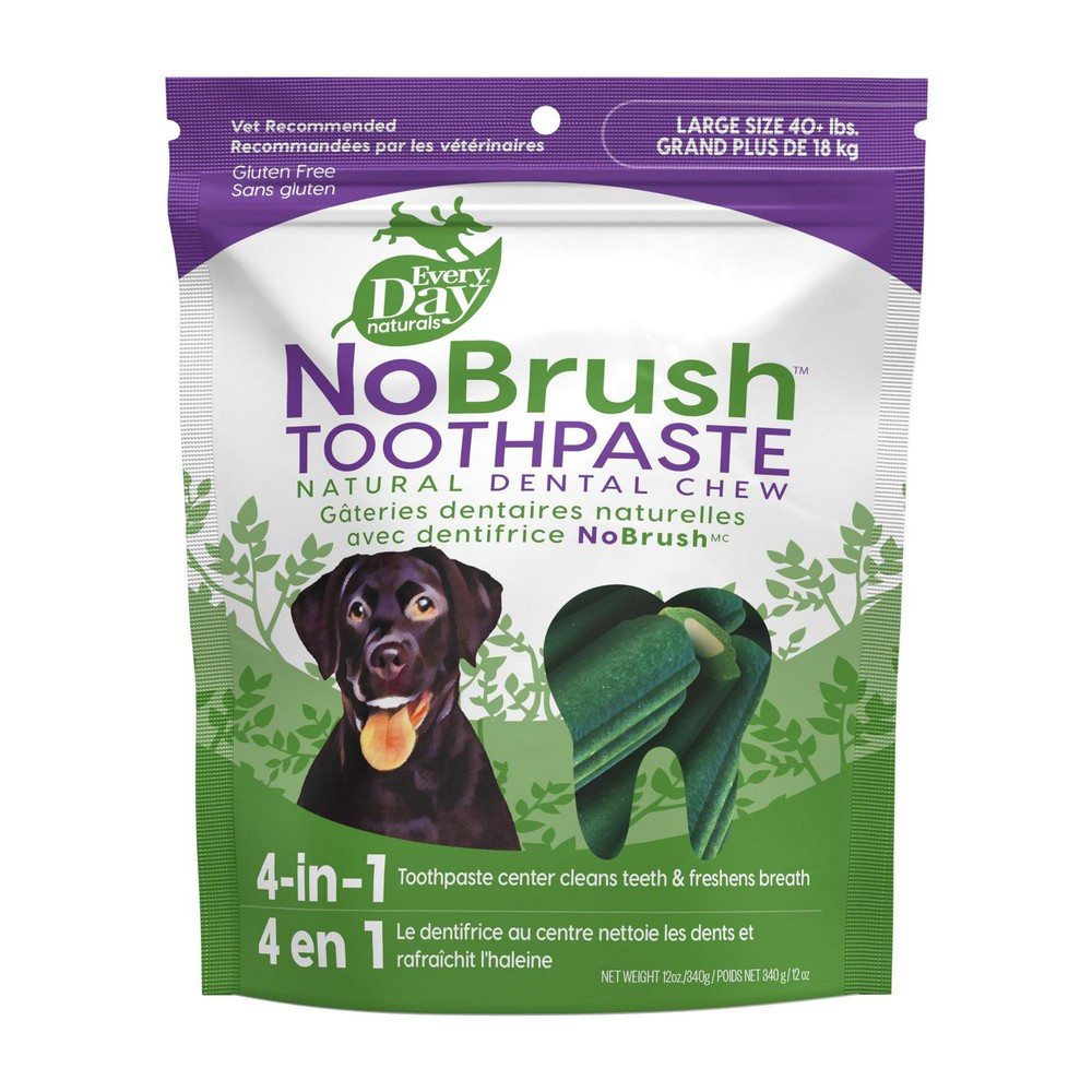 NoBrush toothpaste natural dental chews L