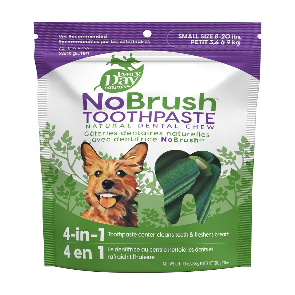 NoBrush toothpaste natural dental dog chews