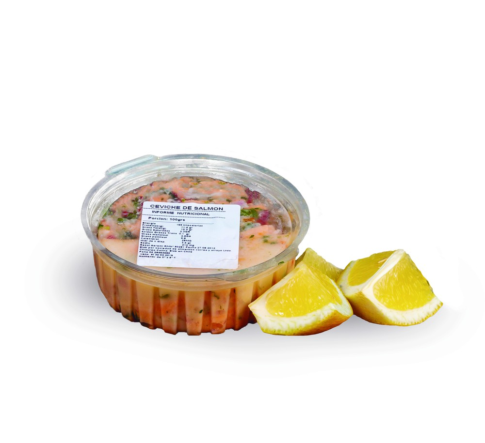 Ceviche salmón 250 g