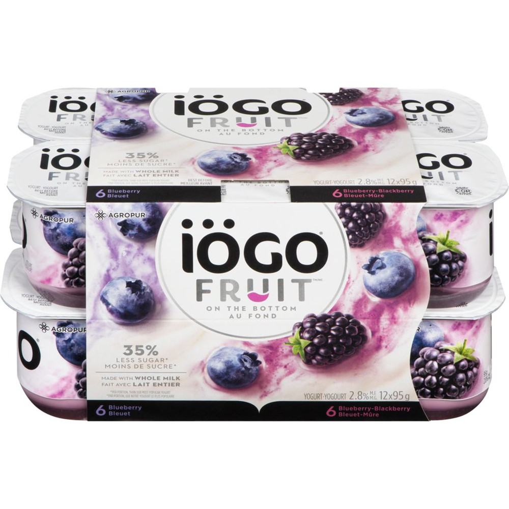Yogurt, Fruit On Bottom, Blueberry, Blackberry