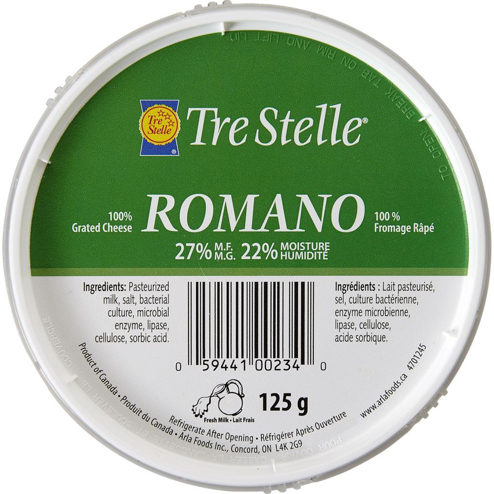 Romano, Grated