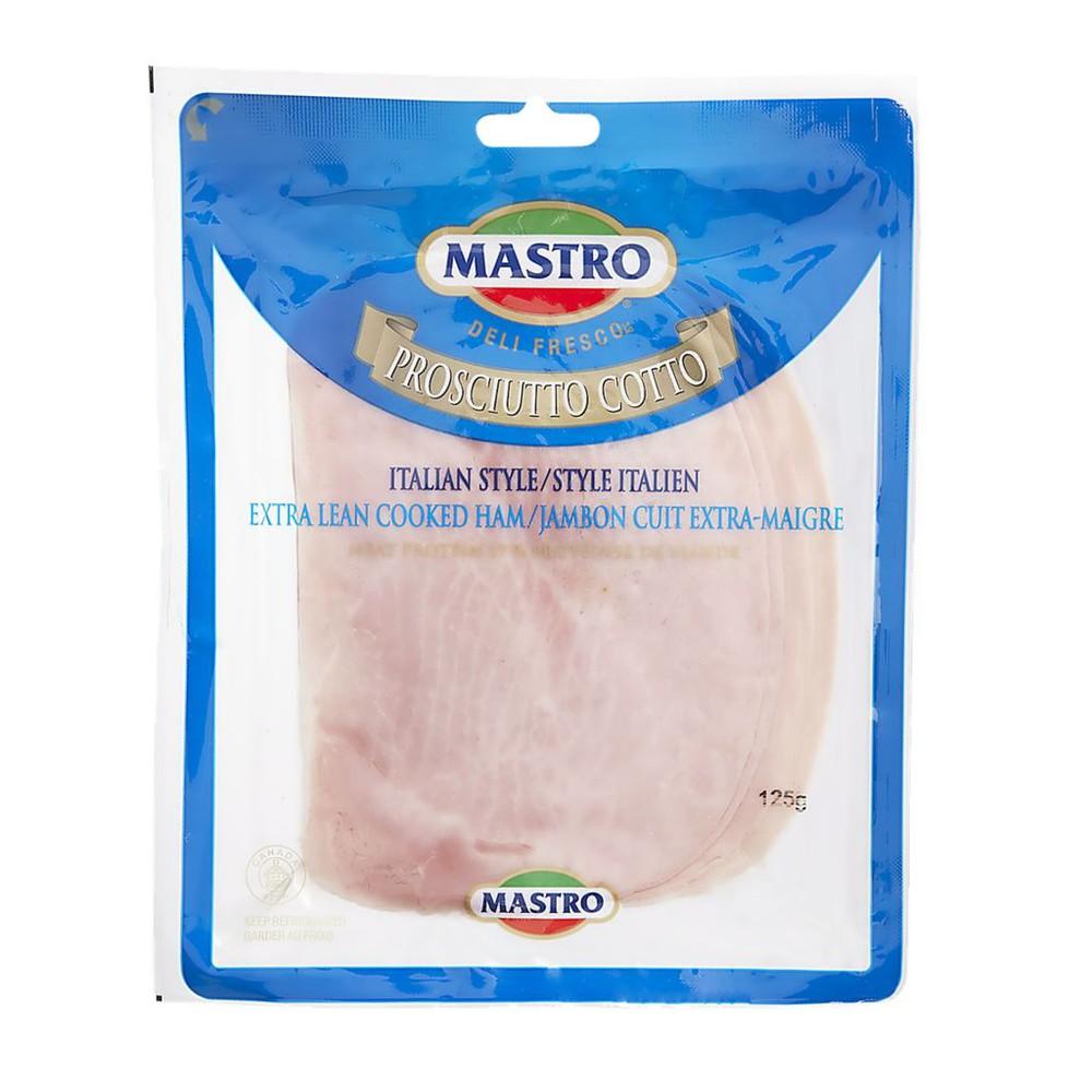 Cooked Italian prosciutto