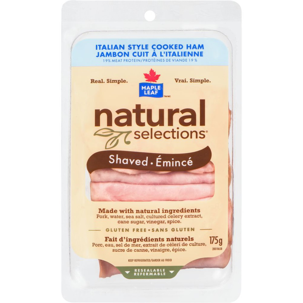 Natural Selections Italian Style Ham, Shaved