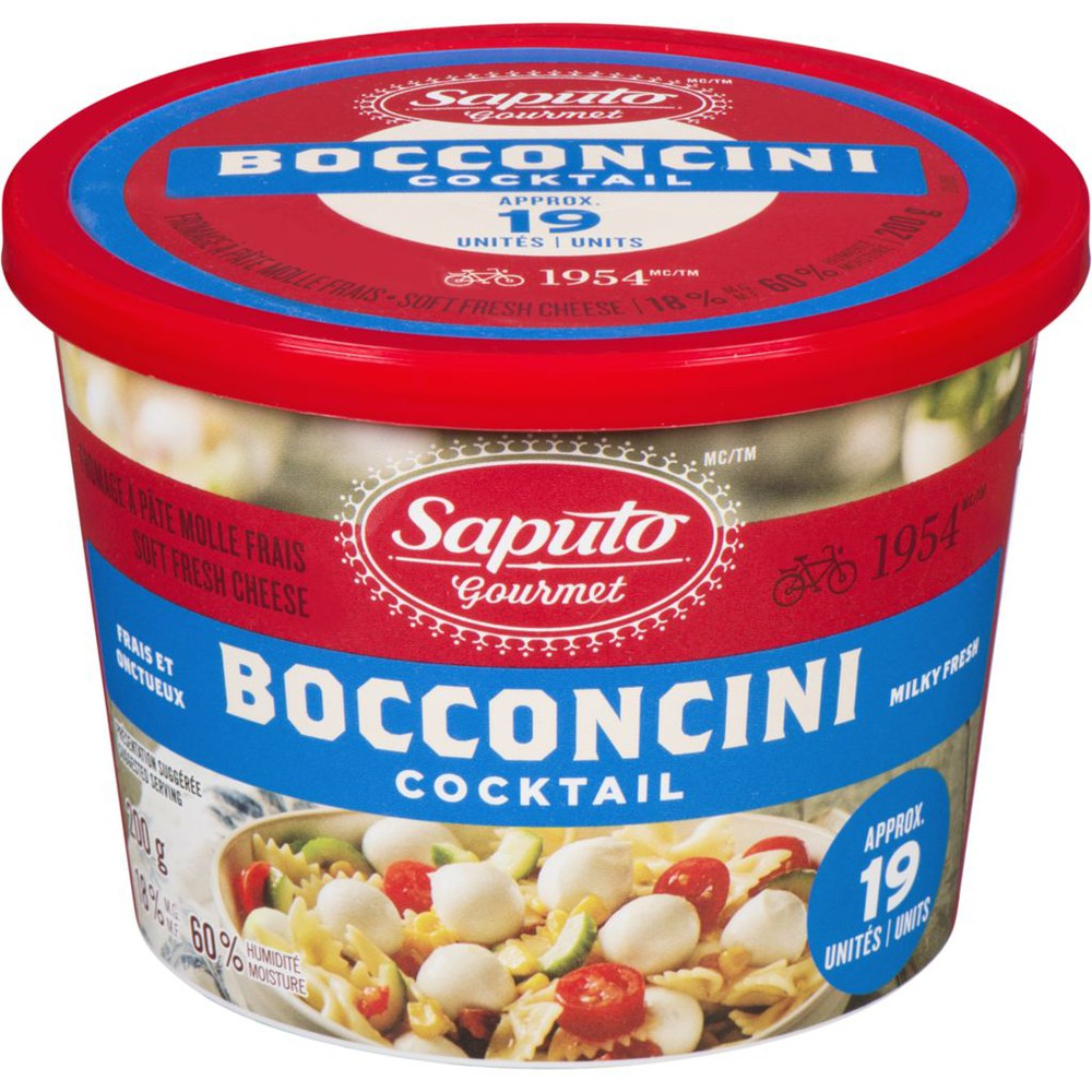 Gourmet Bocconcini Cocktail Soft Fresh Cheese 18% M.F.