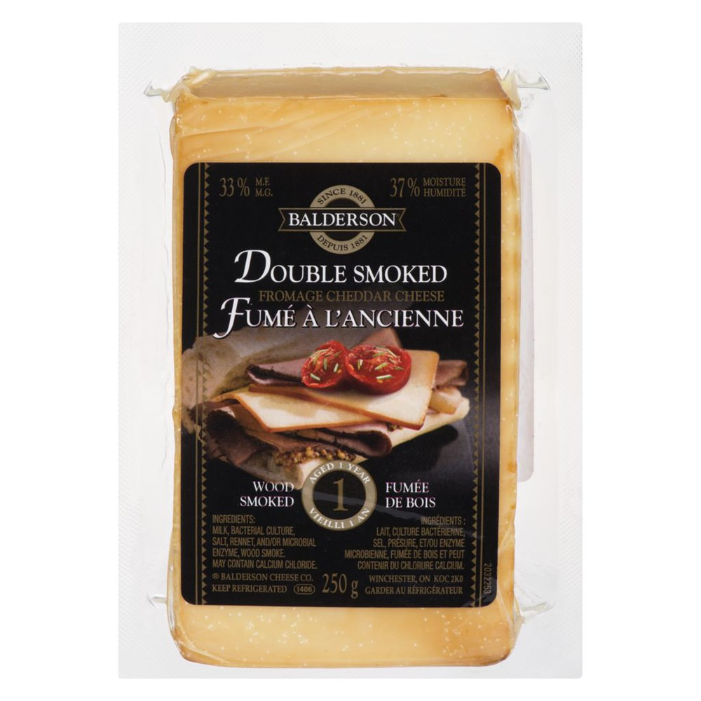 Double wood smoked cheddar cheese