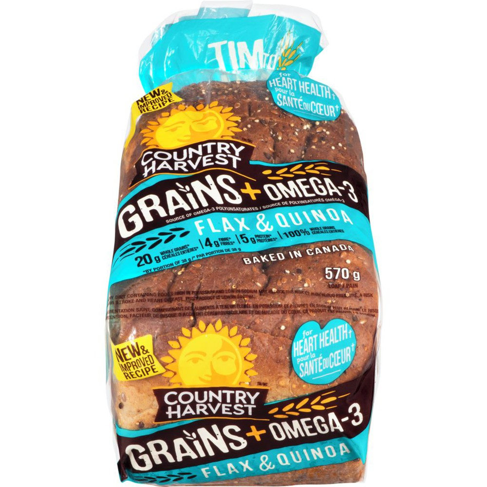 Grains and omega-3 flax and quinoa bread 570 g