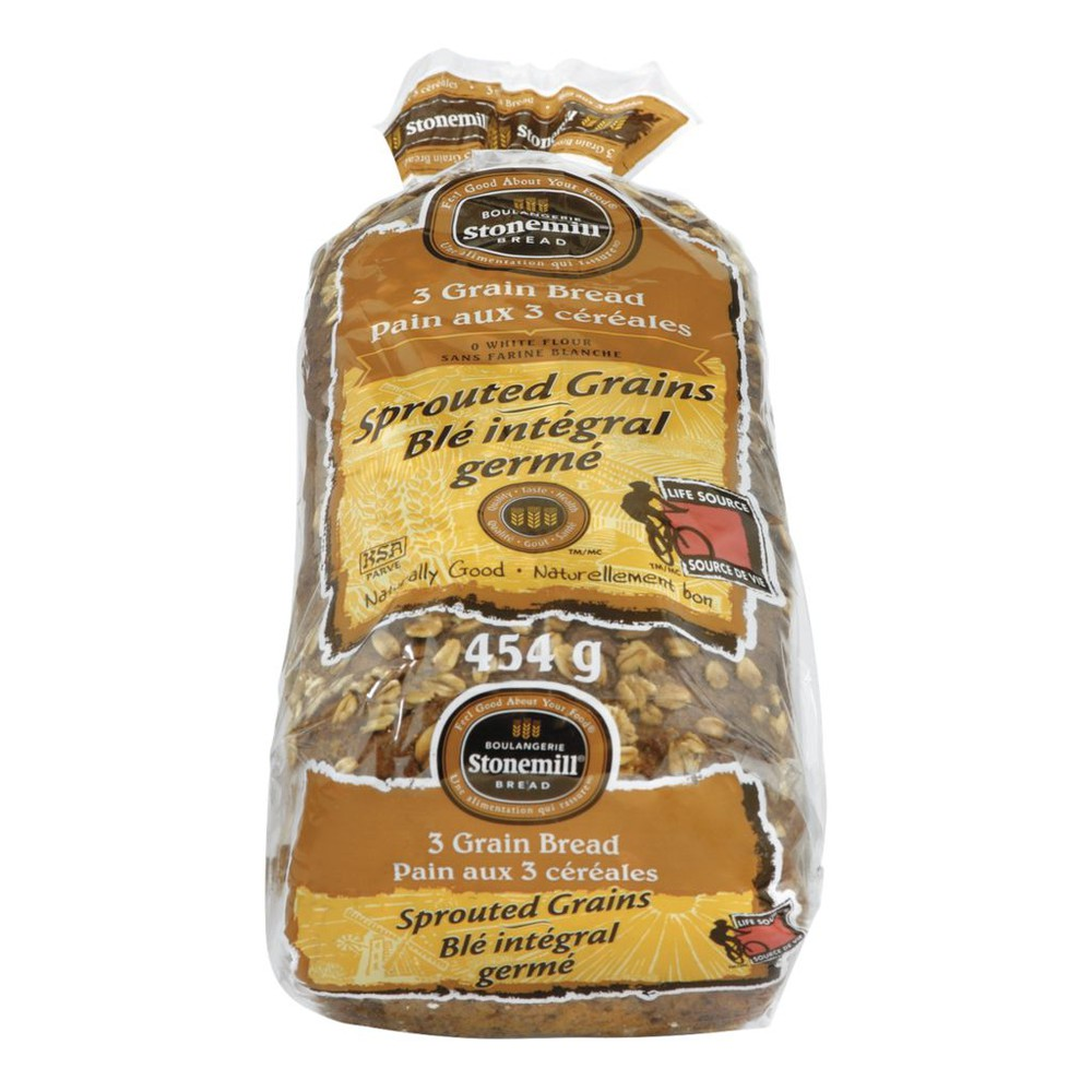 Bread, Sprouted 3 Grains & Oatmeal