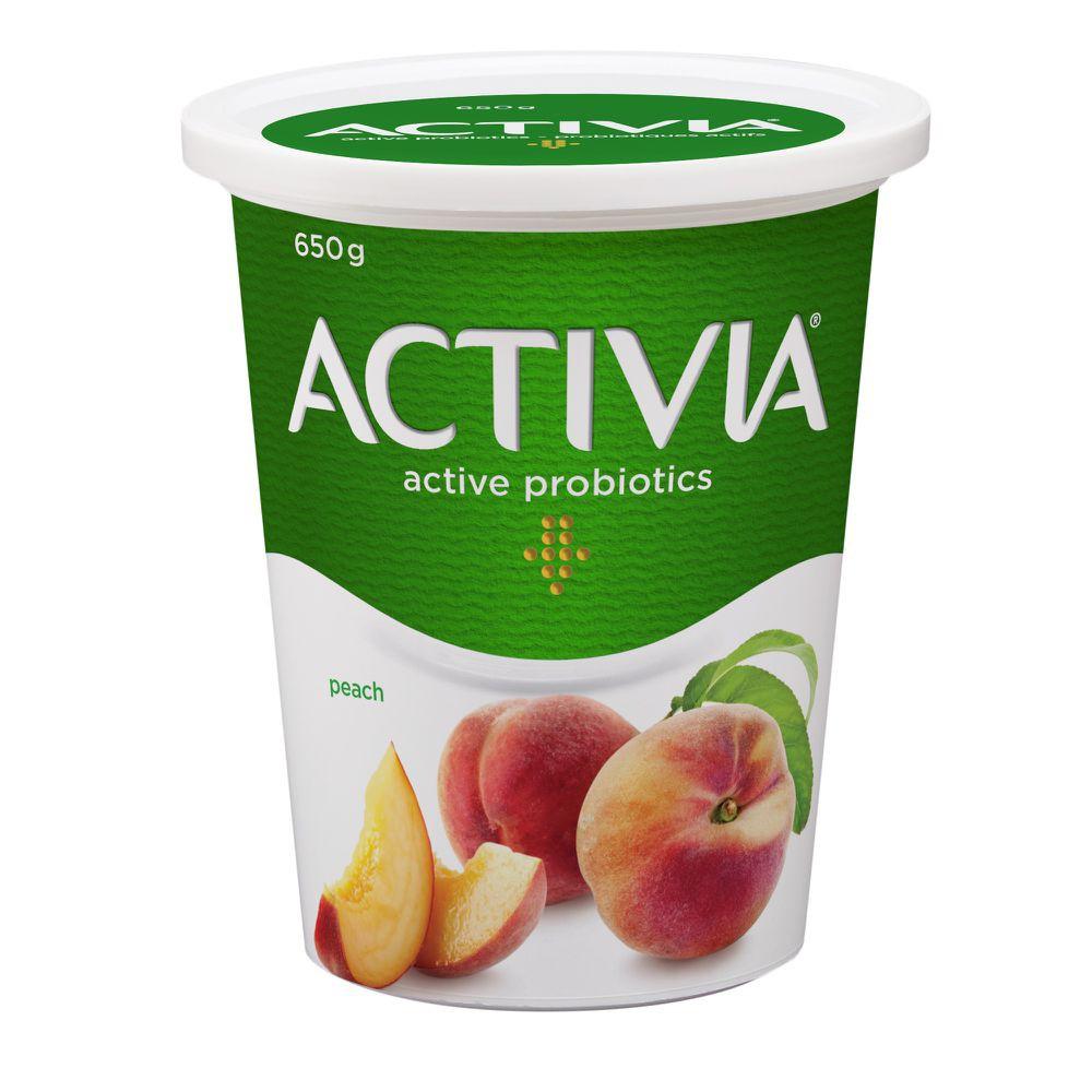 Probiotic yogurt peach