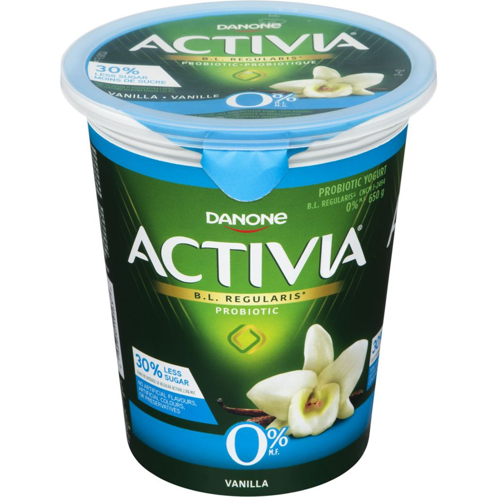 Fat Free Vanilla 0% M.F. Probiotic Yogurt,650g