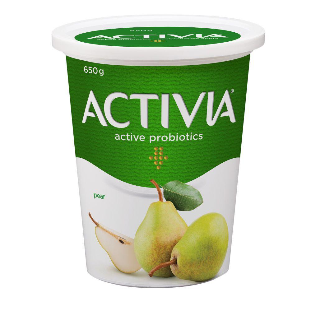 Probiotic yogurt pear