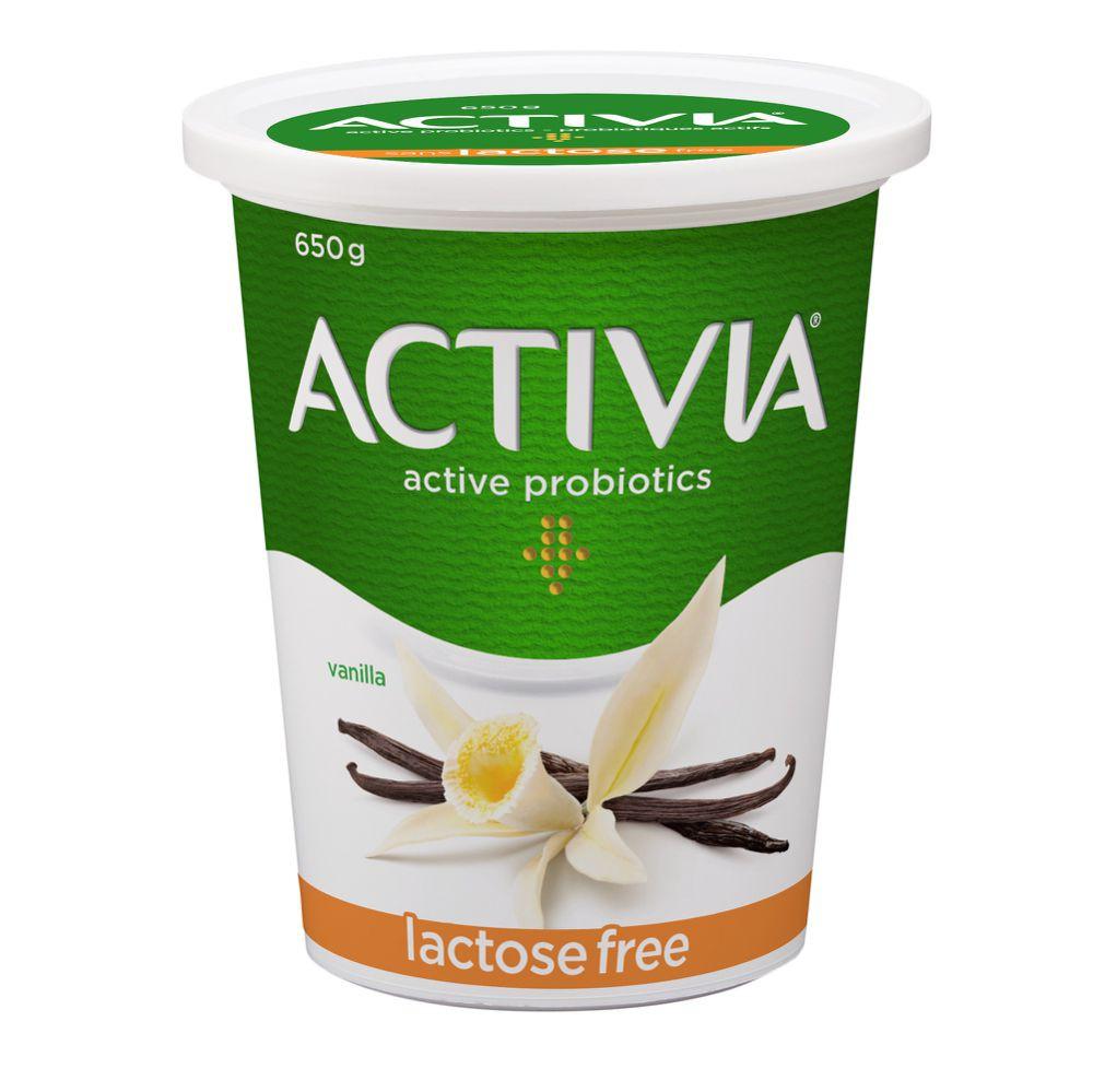 Probiotic yogurt lactose-free vanilla