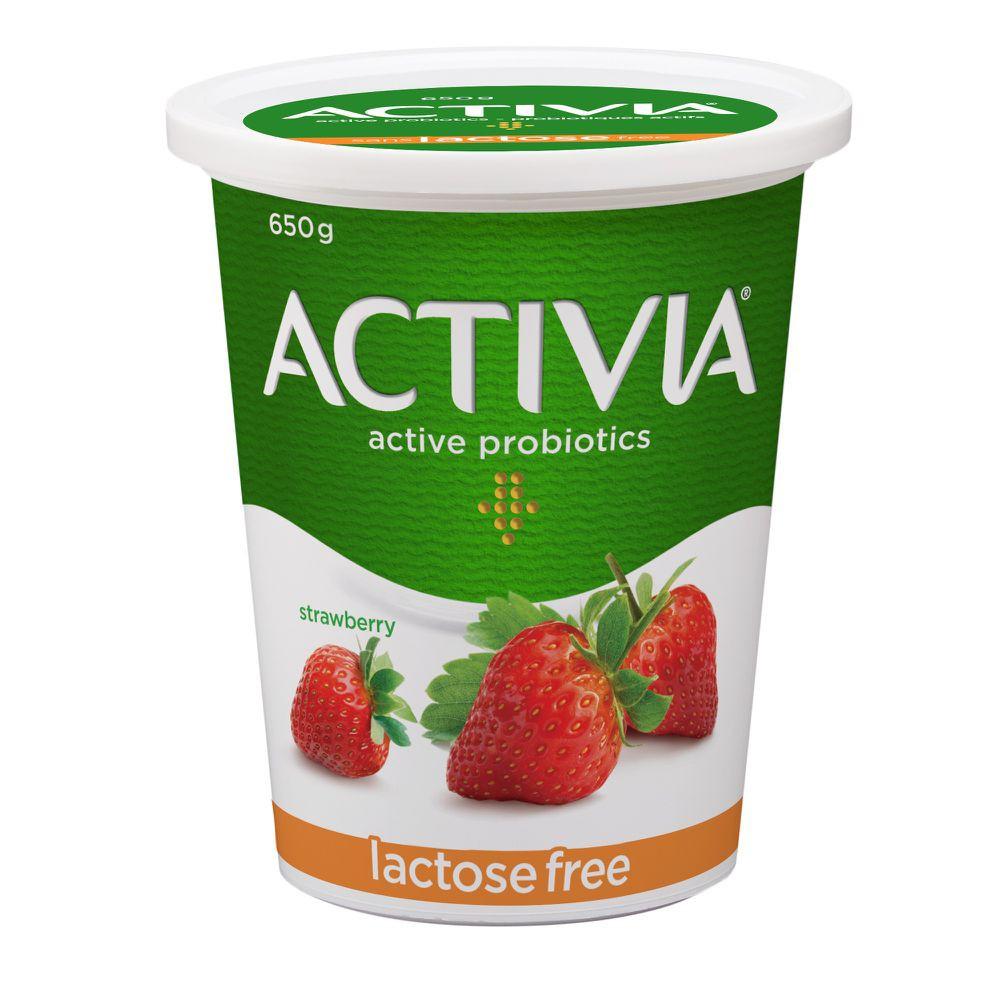 Probiotic yogurt lactose-free strawberry