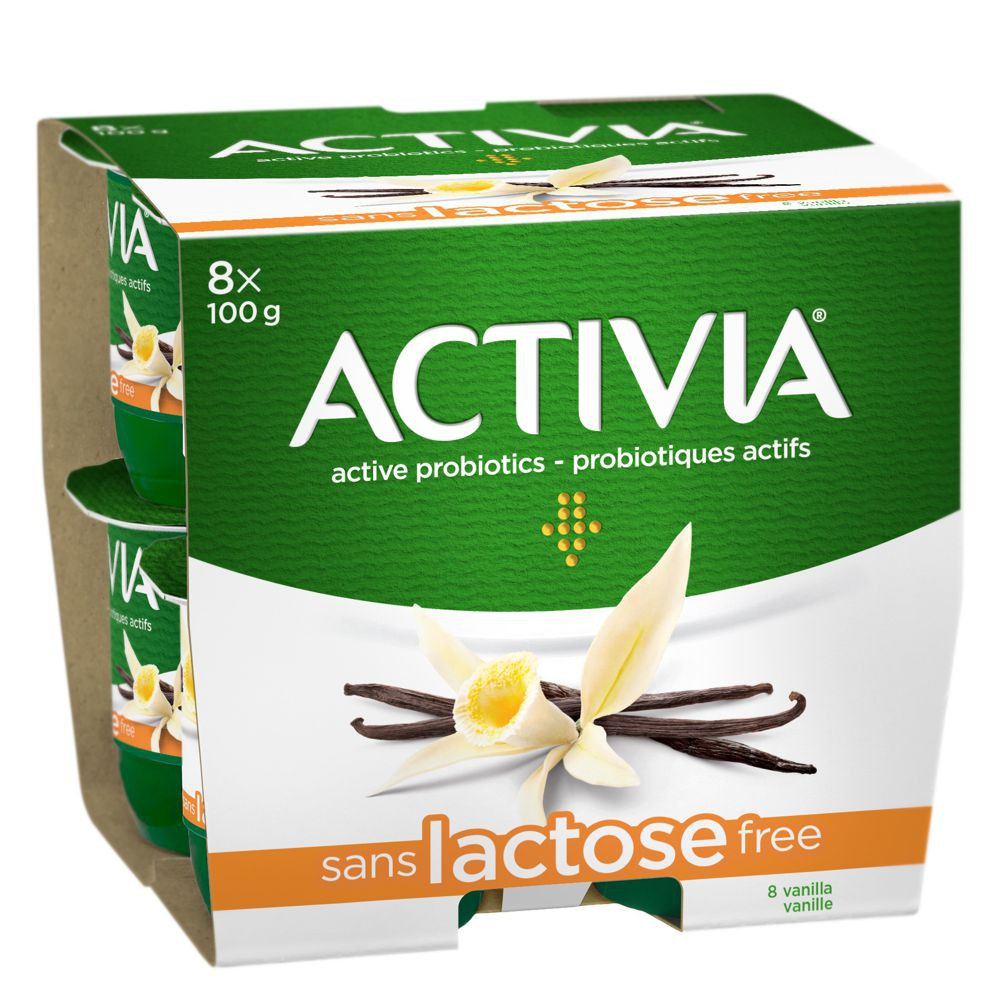 Lactose-free probiotic yogurt vanilla