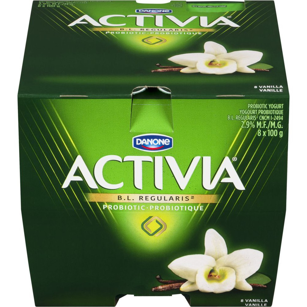 Vanilla 2.9% M.F. Probiotic Yogurt,8x100g