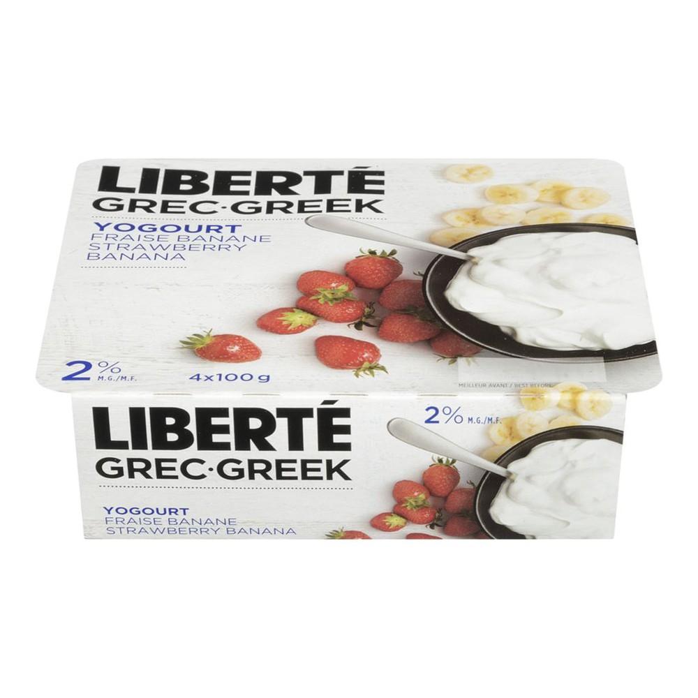 Greek Yogurt, Strawberry-Banana 2%