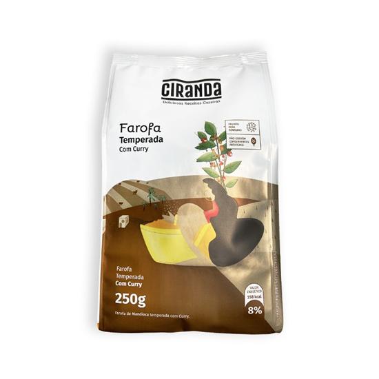 Farofa mandioca com curry Ciranda 250g