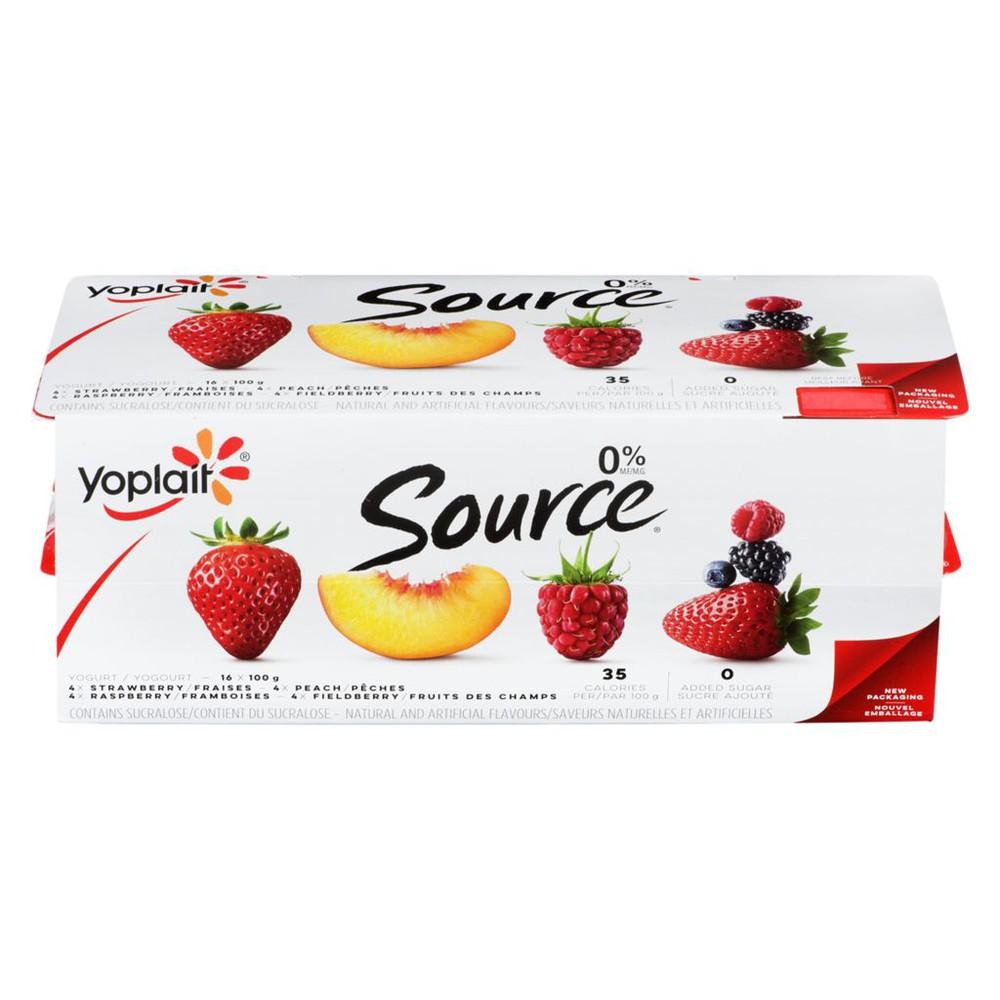 Source yogurt assorted flavours 0%