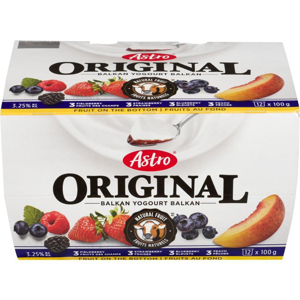 Original Balkan Style Yogurt, Peach/Strawberry/Blueberry/Fieldberry