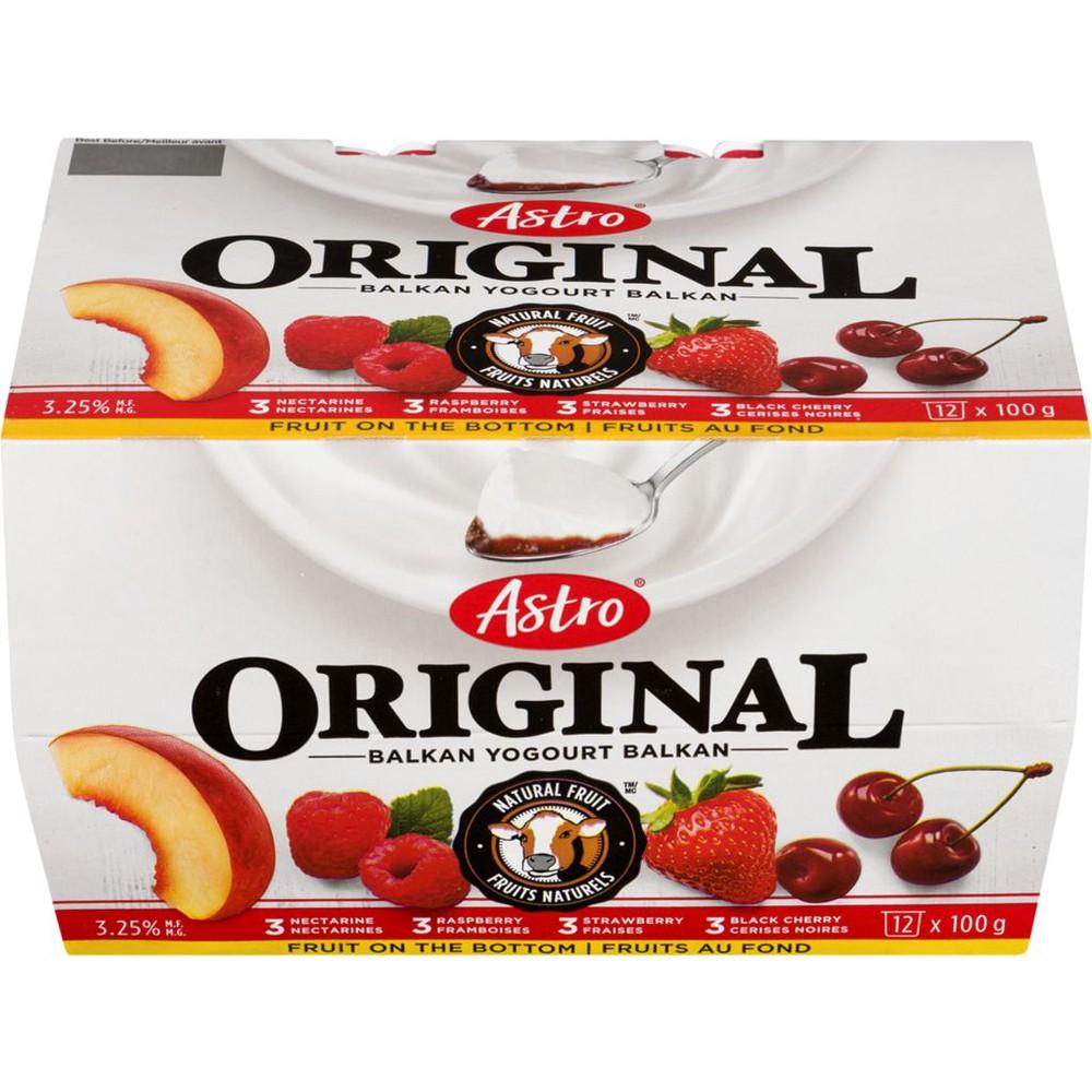 Original Balkan Style Yogurt, Strawberry/Raspberry/Black Cherry/Nectarine