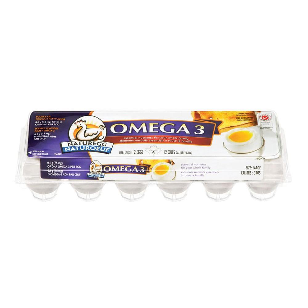 White eggs large omega 3