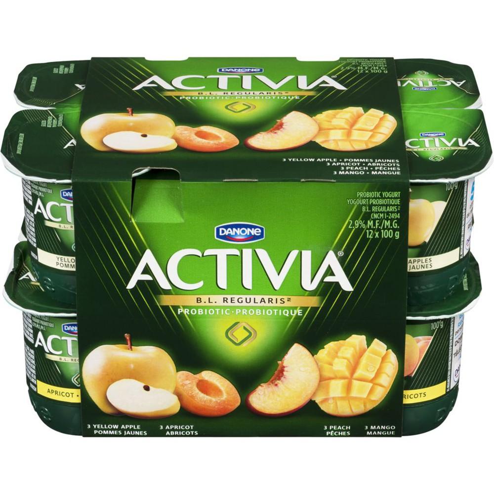 Yellow apple/Apricot/Mango/Peach 2.9% M.F. Probiotic Yogurt,12x100g