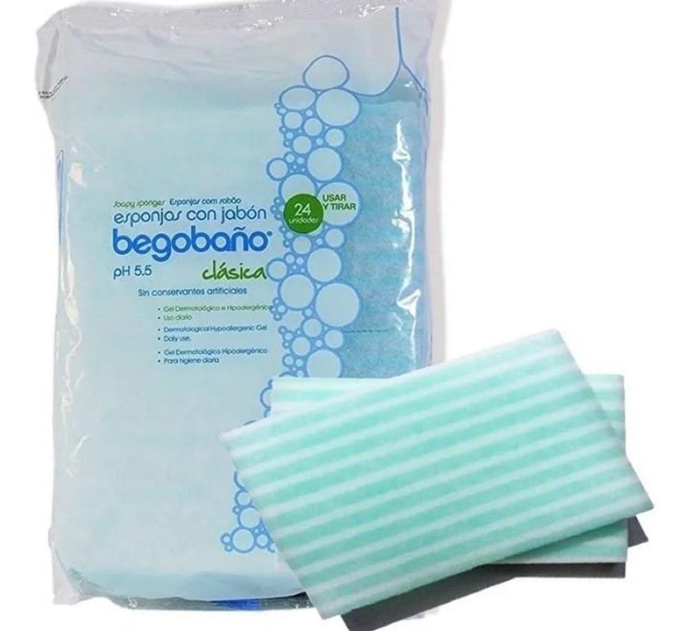 Esponja con jabón lavado paciente - sin enjuague