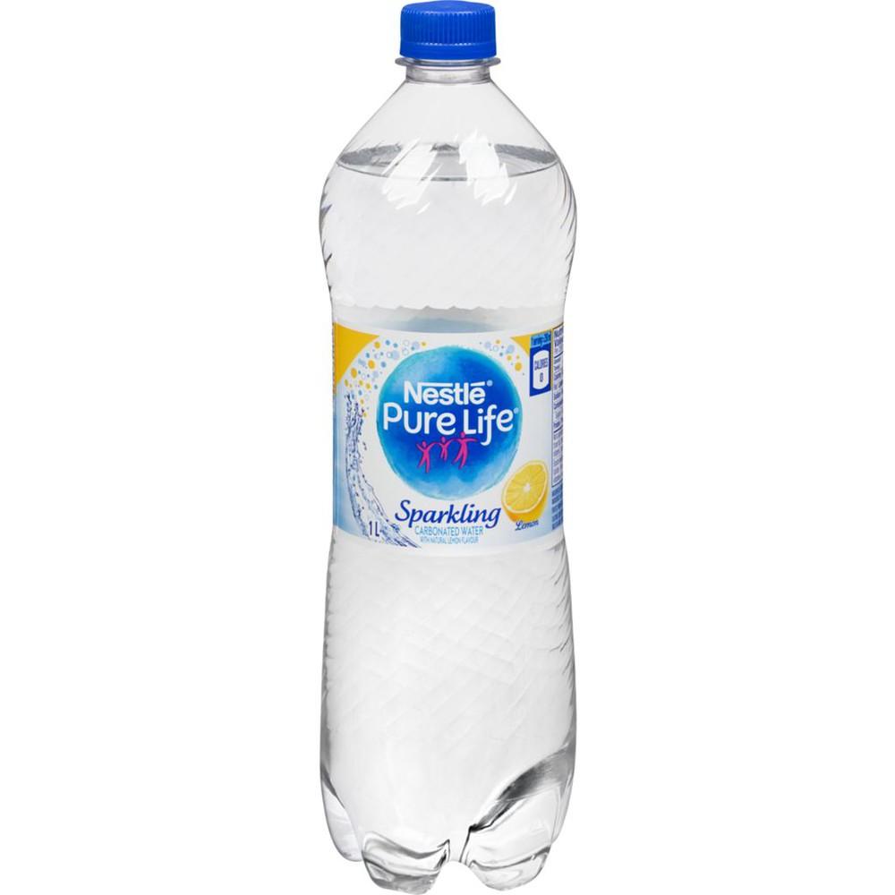 Pure Life Sparkling Natural Spring Water, Lemon