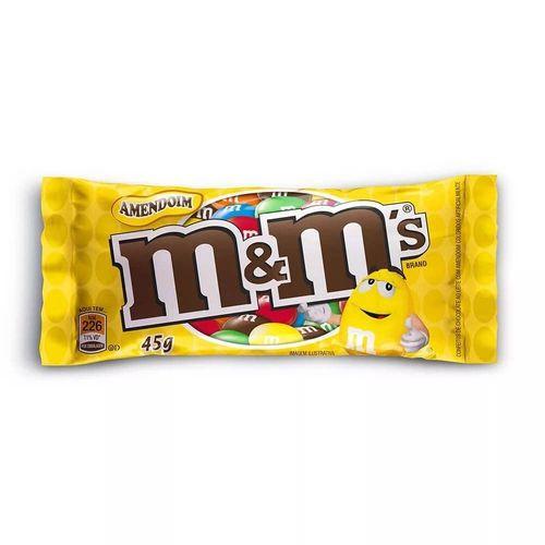 Confeito de chocolate com amendoim
