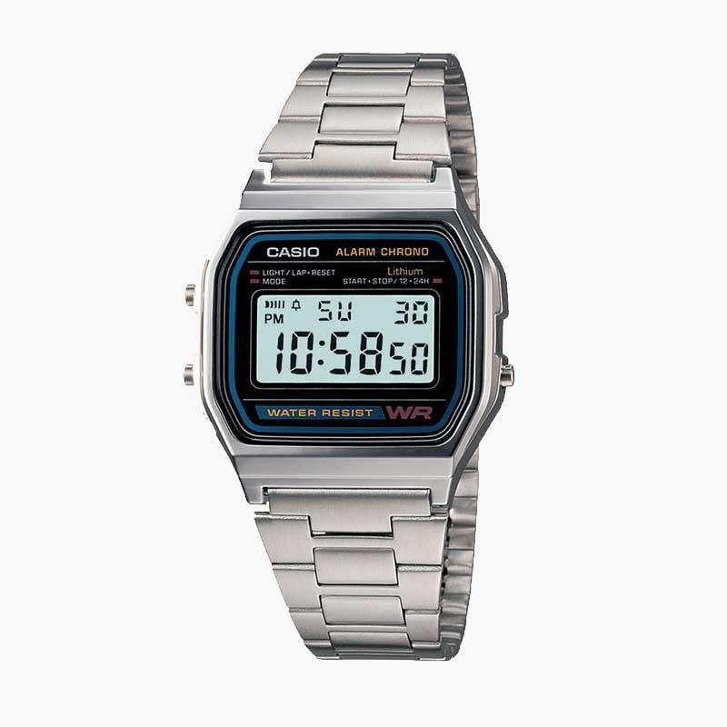 Reloj casio vintage a158wa-1df azul/plateado