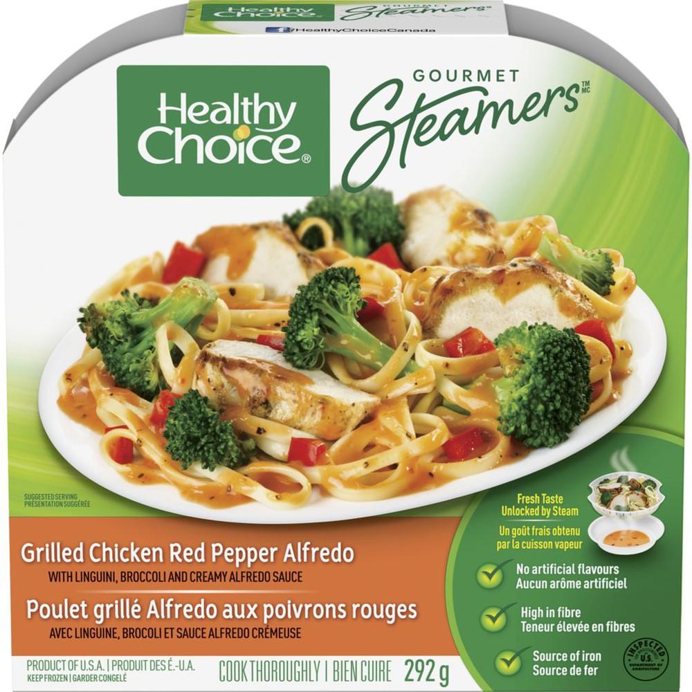 Gourmet Steamers, Grilled Chicken Red Pepper Alfredo
