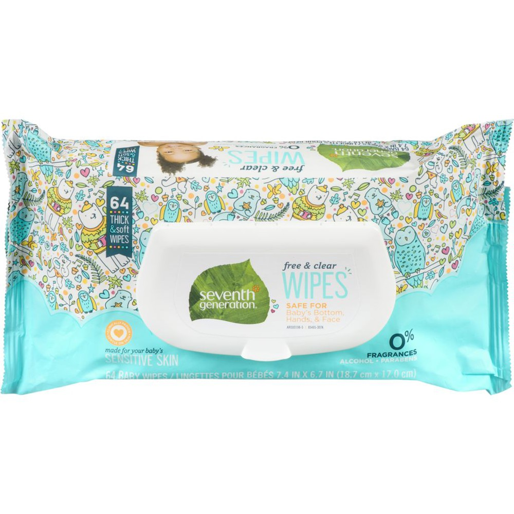 Free & Clear Baby Wipes, Easy Open