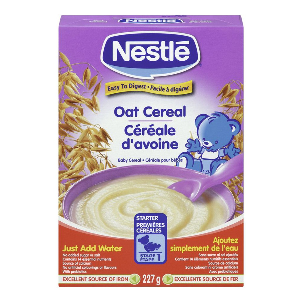 Oat baby cereal