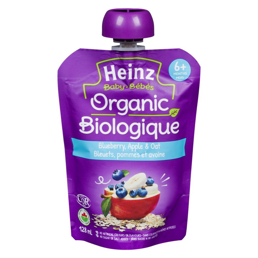 Organic Blueberry Apple & Oats Pouch